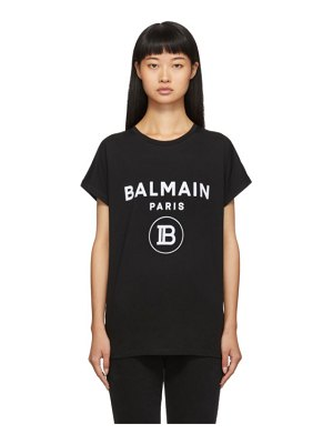 Balmain black flocked logo t-shirt