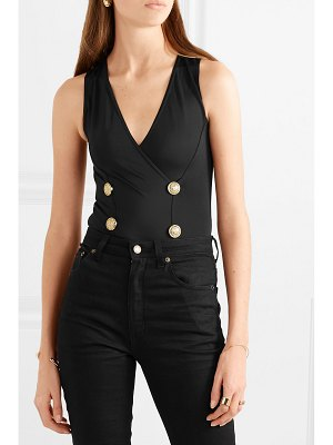 Balmain button-embellished stretch-jersey bodysuit