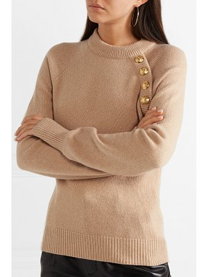 Balmain button-embellished wool and cashmere-blend sweater