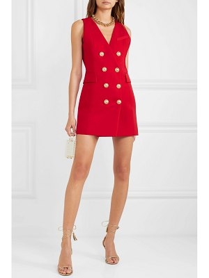 Balmain button-embellished wool-twill mini dress