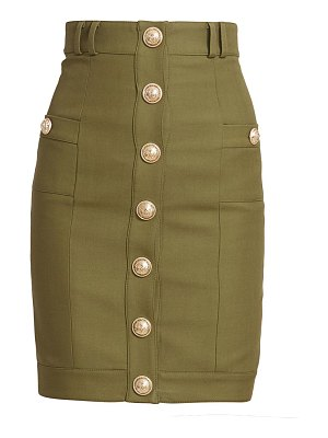 Balmain button front pencil skirt