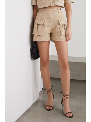 Balmain cotton-blend drill shorts