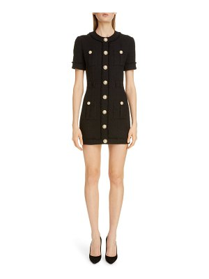 Balmain cotton blend tweed minidress