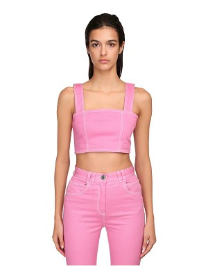 Balmain Cotton denim crop top