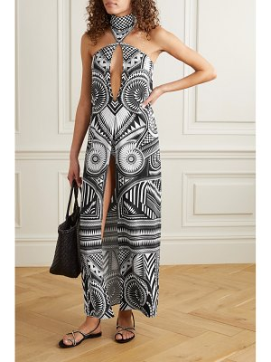 Balmain cut-out stretch-crepe halterneck maxi dress