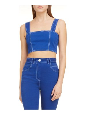 Balmain denim crop top