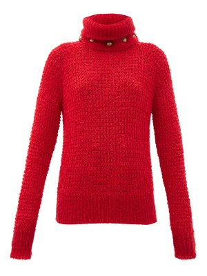 Balmain detachable roll-neck wool-blend sweater