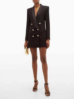 Balmain double breasted crepe blazer dress