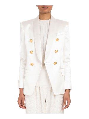 Balmain Double-Breasted Satin Jacket