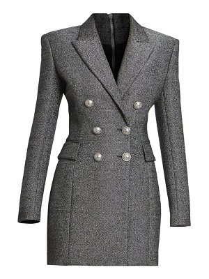 Balmain double breasted wool-blend jacket dress