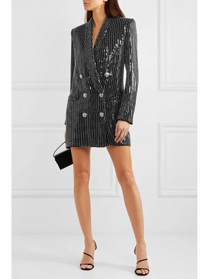 Balmain embellished crepe mini dress