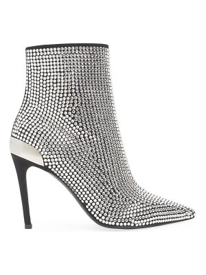 Balmain embellished stretch suede & leather ankle boots