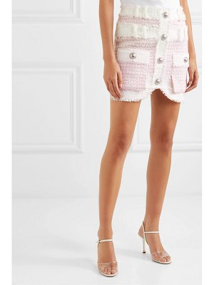 Balmain embellished tweed mini skirt