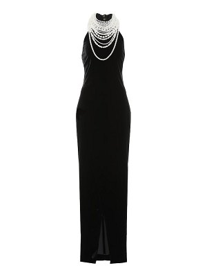 Balmain embellished velvet dress