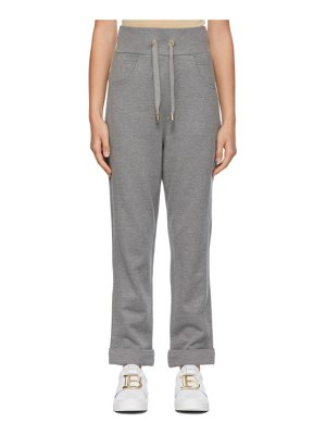Balmain grey embossed monogram lounge pants