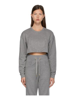 Balmain grey embossed monogram sweatshirt