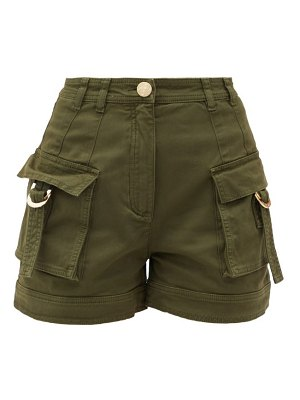 Balmain high-rise cotton-blend cargo shorts
