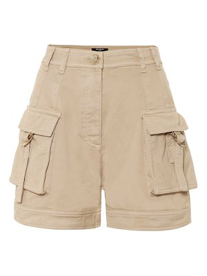 Balmain high-rise cotton cargo shorts