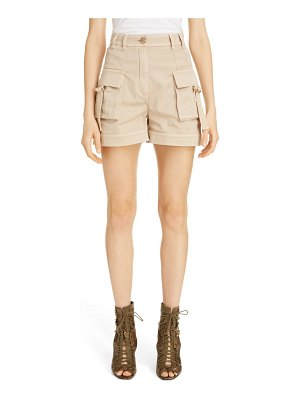 Balmain high waist cargo shorts