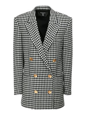 Balmain Houndstooth boyfriend jacket mini dress