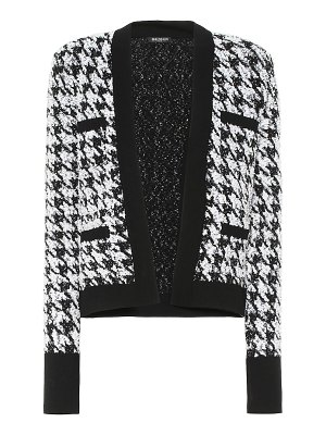 Balmain houndstooth tweed jacket