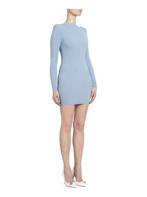 Balmain long sleeve ribbed sweater dress
