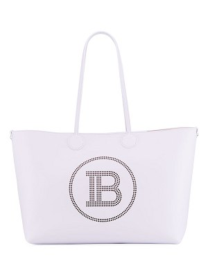 Balmain Medium Calfskin Shopping Tote Bag
