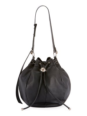 Balmain Medium Leather Bucket Bag