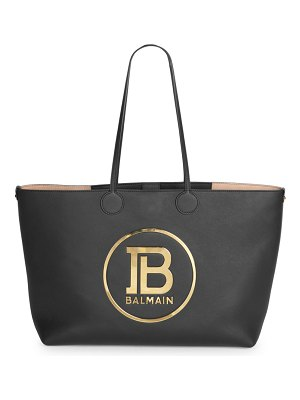 Balmain medium leather shopping bag