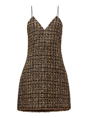 Balmain metallic tweed mini dress