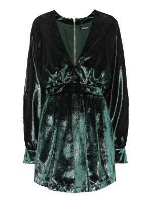 Balmain metallic velvet minidress