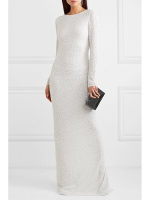 Balmain open-back embellished chiffon gown
