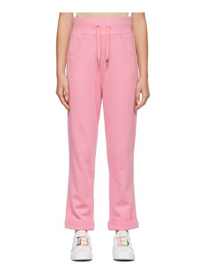 Balmain pink embossed monogram lounge pants