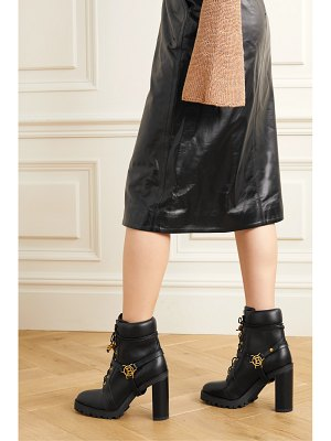 Balmain ranger buckle-detailed leather ankle boots