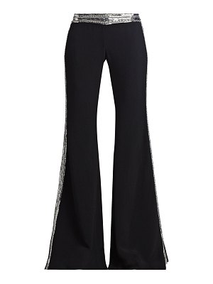 Balmain sequin embroidered crepe flare pants