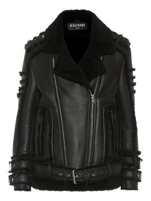 Balmain shearling jacket