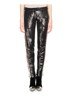 Balmain Side-Stripe Paillette Tuxedo Pants