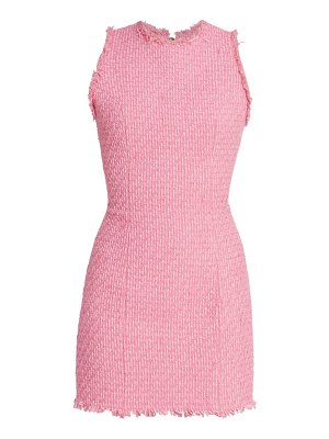 Balmain sleeveless tweed mini dress