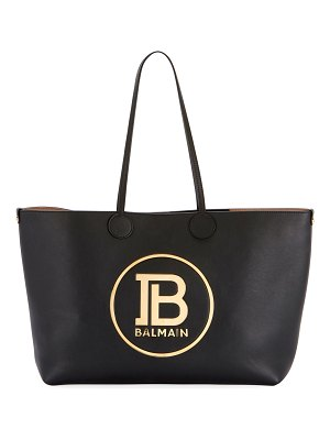 Balmain Smooth Medium Shopping Tote Bag