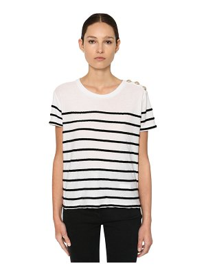Balmain Striped cotton jersey t-shirt