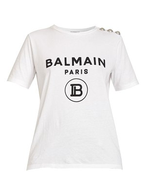 Balmain three button logo tee