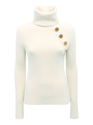 Balmain Wool blend knit turtleneck sweater