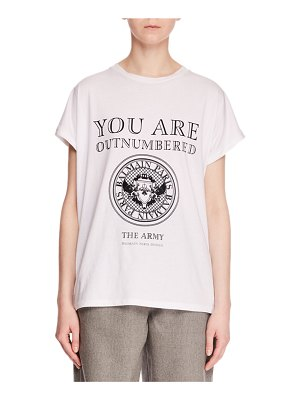 Balmain You Are Outnumbered Short-Sleeve Graphic-Print Jersey T-Shirt