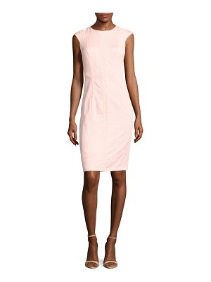 Basler Crewneck Lace Sheath Dress