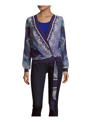Basler Printed Tie-Up Top