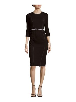 Basler Textured Cotton-Blend Sheath Dress