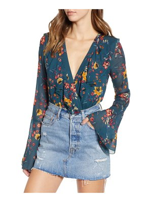 Band of Gypsies audrey floral ruffle bodysuit