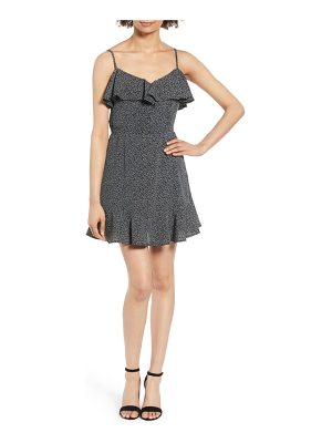 Band of Gypsies button front frilly dot dress