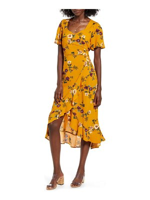 Band of Gypsies floral flutter sleeve midi dress