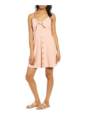 Band of Gypsies giselle tie front minidress